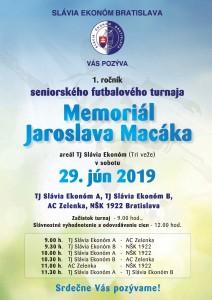 1. ročník seniorského turnaja Memorial Jaroslava Macáka