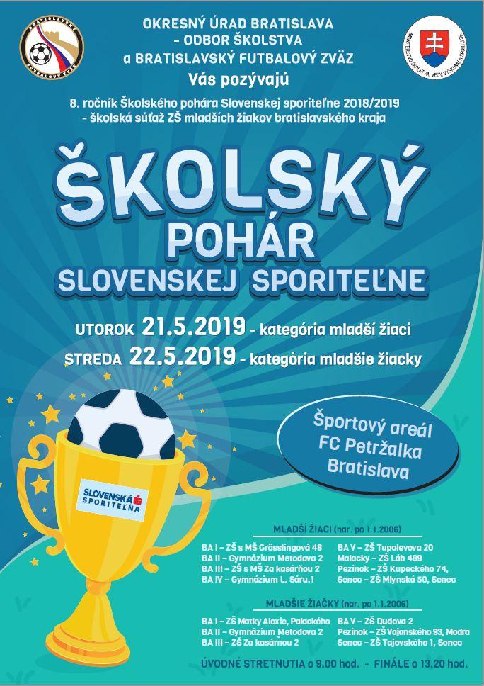 Plagát šk pohár finále 2019