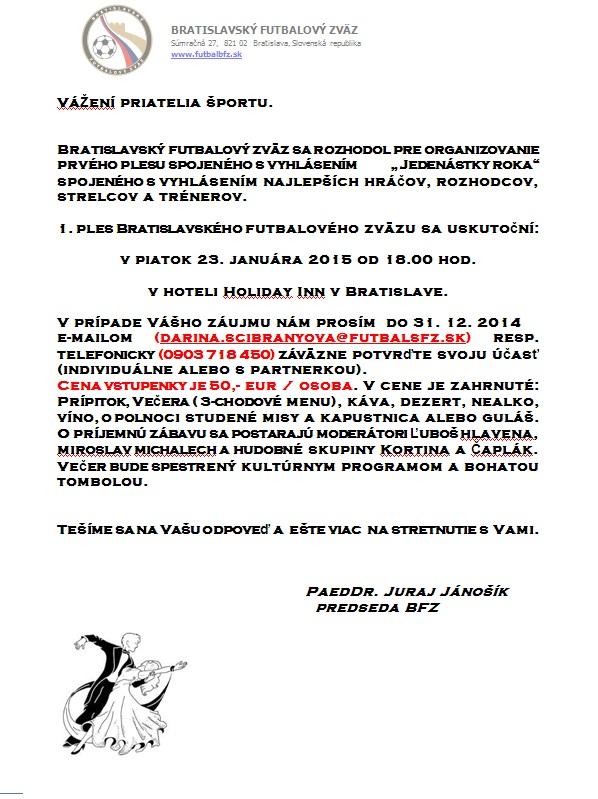 Pozvánka 31.12.2014