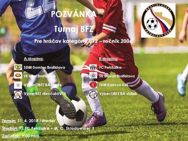 Pozvánka - turnaj U12