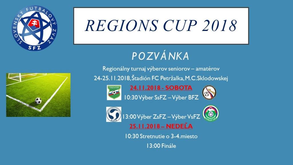 a9512d352ea32 REGIONS CUP 2018 sa uskutoční v dňoch 24-25.11. 2018 na štadióne FC  Petržalka