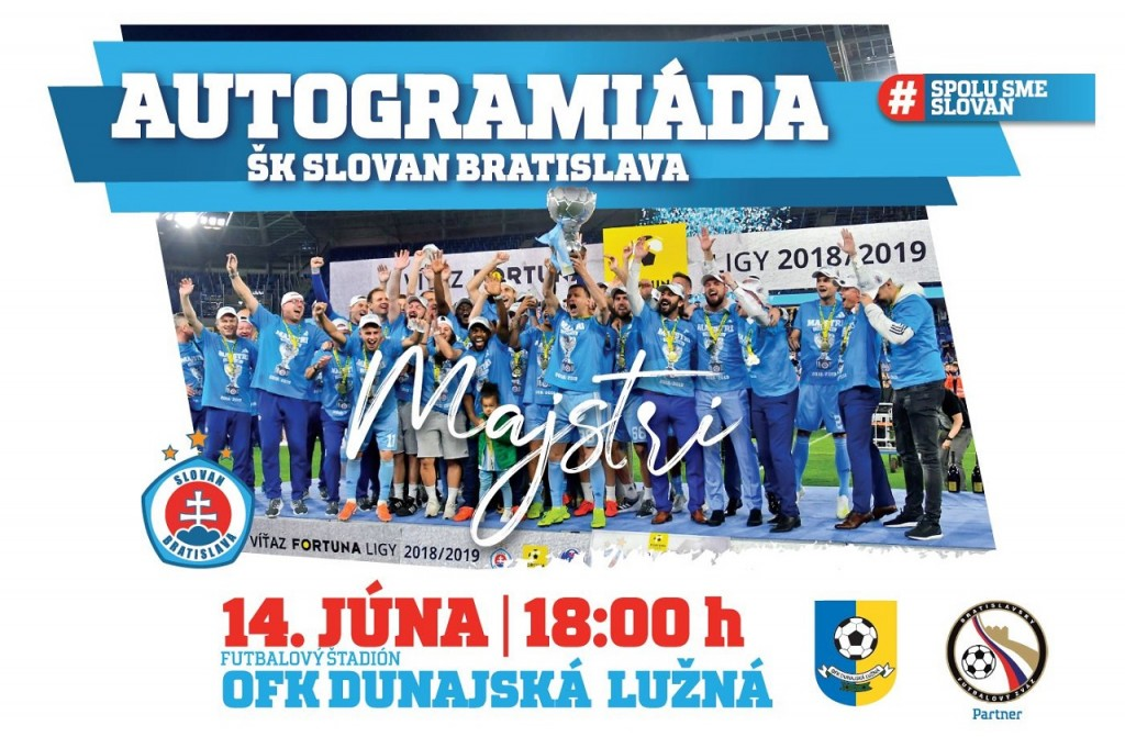 Slovan Autogramiáda 14062019