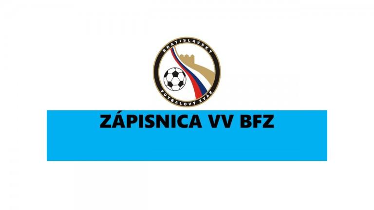 Zápisnica VV BFZ foto